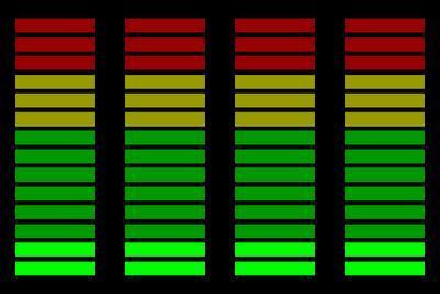 LED vu-Meter - (Audio, Aufnahme, Lautstärke)