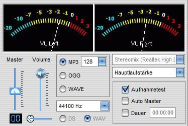 klassischer vu-Meter (Recorder No 23) - (Audio, Aufnahme, Lautstärke)