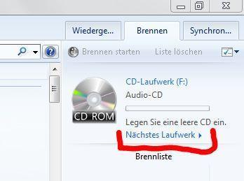 Mediaplayer Laufwerk/Brenner - (Windows Media Player, Brenner)
