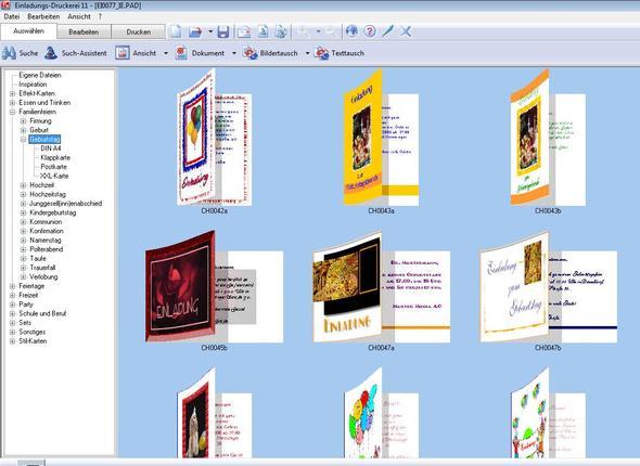 Ansicht Kartensoftware   (einladung, Einladungen Selber Machen, Einladungen  Erstellen)