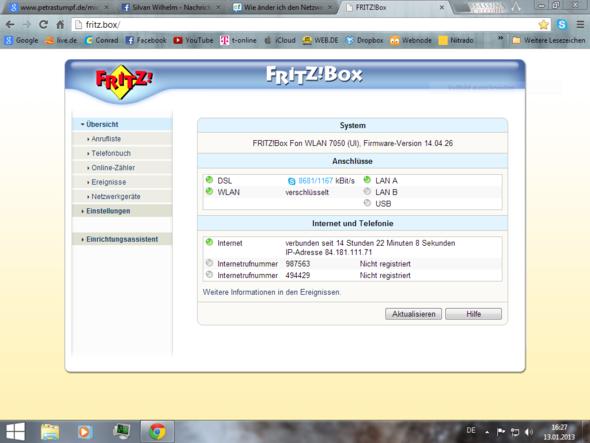 Fritz box einstellungen - (WLAN, Vodafone)