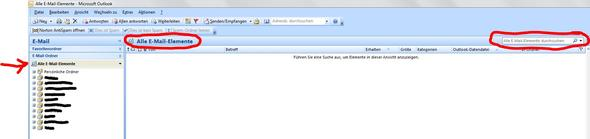 Outlook - (E-Mail, outlook, Suche)