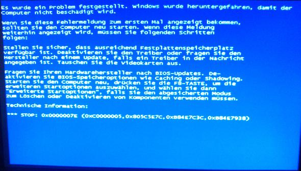 Bluescreen Windows XP Professionell - (PC, Hardware, Netzteil)