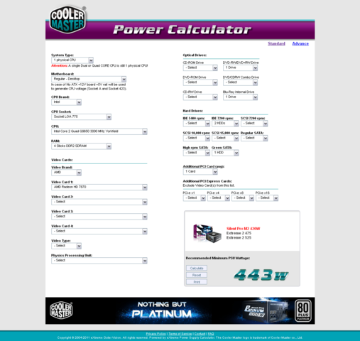 Power Calculator - (Grafikkarte, Netzteil)