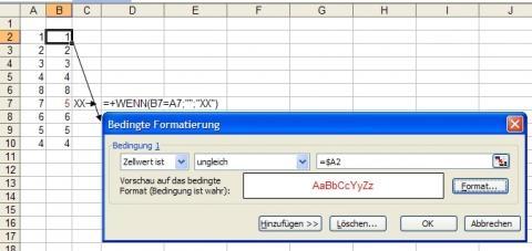 Bedingte Formatierung - (Microsoft, Office, Excel)