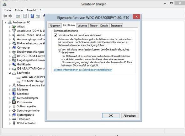 Schreibcache unter Windows 8.0 - (Notebook, Prozessor, Bios Update)