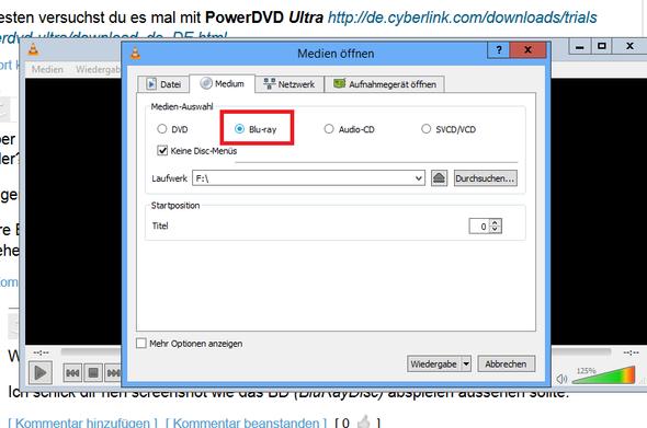 so sollte es im vlc aussehen! - (blu-ray, Windows Media Player, VLC Player)