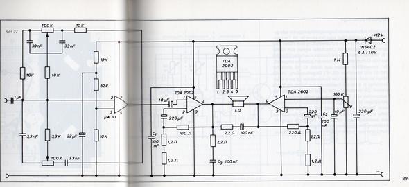 2. Schaltung Teil 2 - (Elektronik, Verstärker, Endstufe)