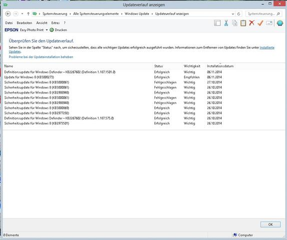 KB3000061 - (update, Fehlermeldung, Windows 8)