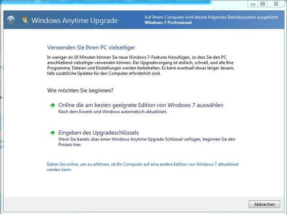 Windows Anytime Upgrade - (Home Premium, Windows 7 Ulrimate)