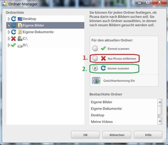 Picasa-Ordnermanager  - (bildbearbeitung, Picasa)