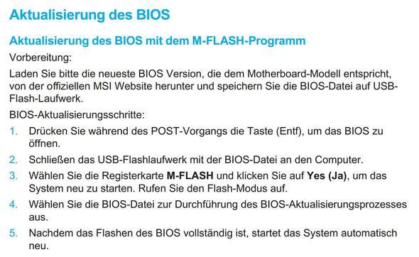 Anleitung - (Mainboard, MSI, Bios Update)