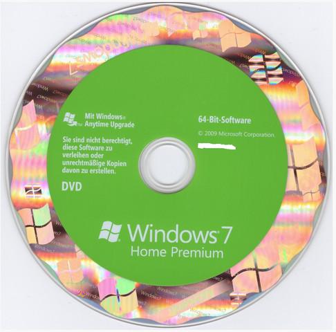 Original Microsoft Windows 7 - Installations-DVD - (Windows 7, Hologramm)