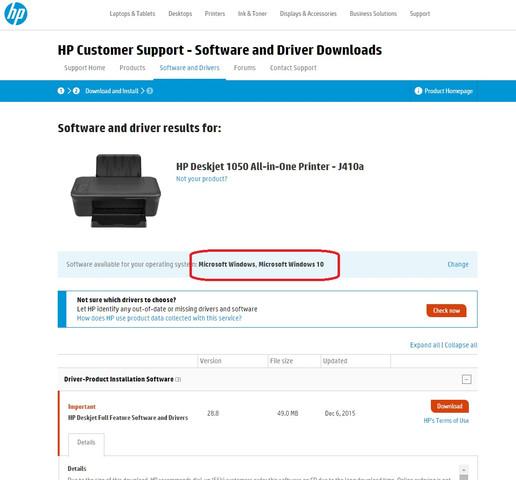 HP Support/Download für HP 1050 - (PC, software, Drucker)