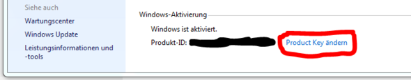 Windows Key ändern - (Windows 7, Lizenznummer eingeben)