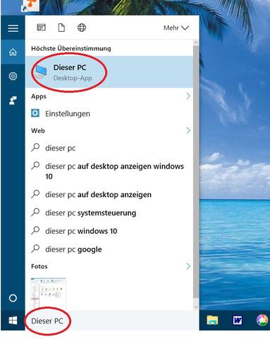 Suchfenster bzw. -Zeile  - (Windows, Vista, Mail)