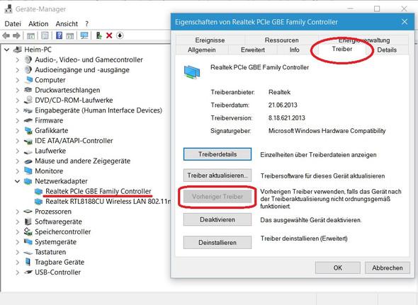 Gerätemanager, LAN-Treiber - (Treiber, Netzwerkadapter)