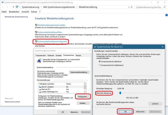 Bid 1 - (Windows 10, wiederherstellungspunkt, CleanInstall)