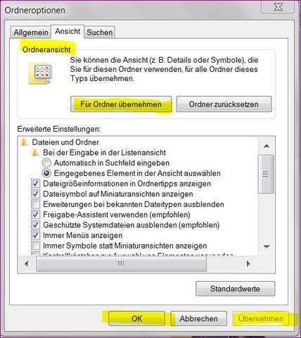 Ordneransicht - (Datei, Ordner, Icon)
