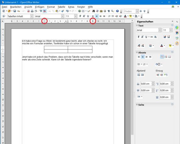 Bild 1 - (word, Tabelle, Formular)