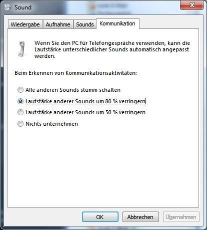 Konfiguration der Sounds in Windows - (Audio, Skype, Kopfhörer)