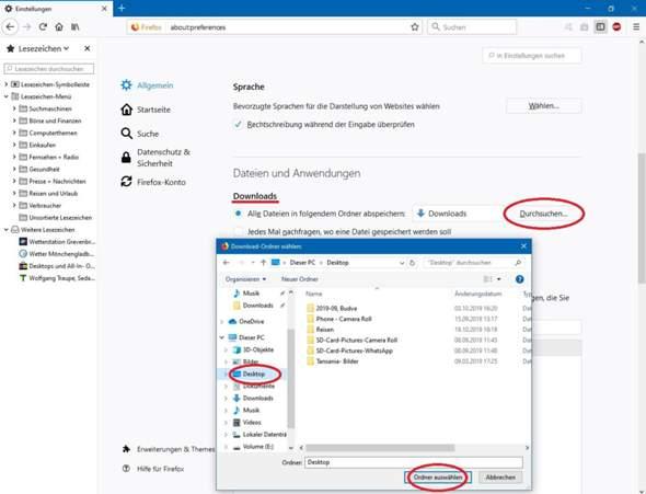 Wie bekomme ich Download auf den Desktop?