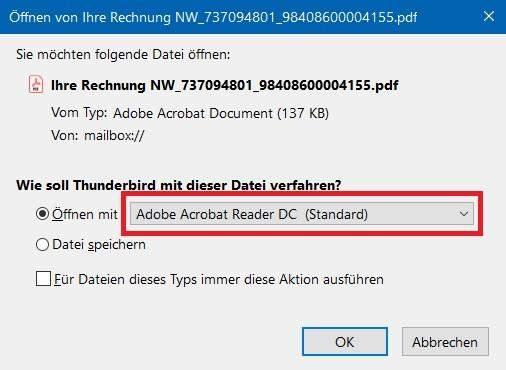 - (Office 2010, PDF Dateien als Mailanhang)
