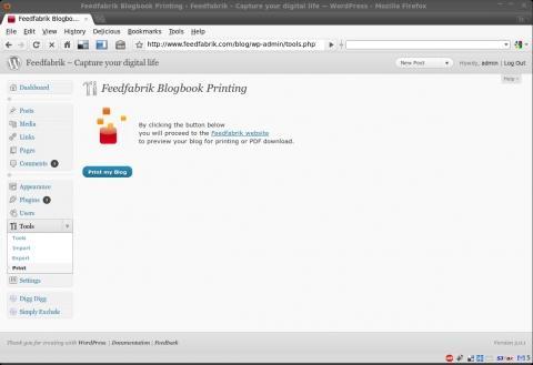 Neuer Print Button in WordPress nach Plugin Installation - (wordpress, Drucken, Blog)