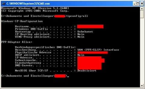 - (Windows XP, Ip-Adresse, ethernet)
