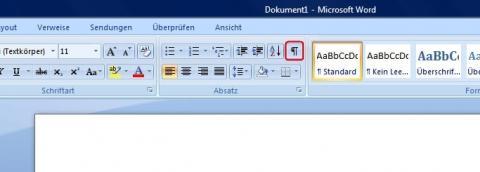 - (Word Formatierung, Word Zeichen)