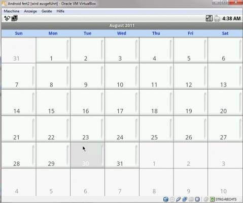 Kalender - (Smartphone, Android, VMWare)