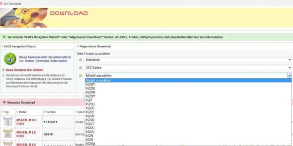 ASUS Auswahl - (Laptop, Asus, Bluetooth)