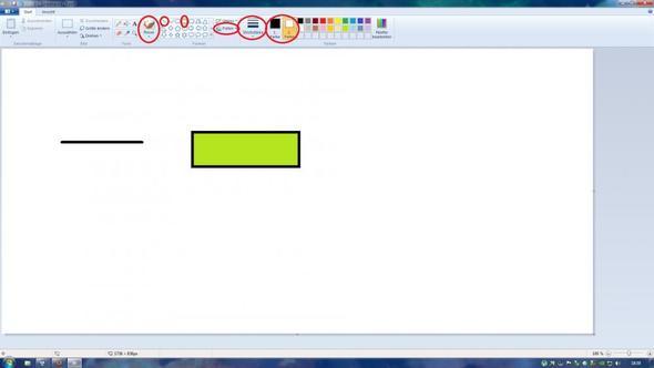 Paint Klick Hilfe - (Windows, Paint, Zeichenprogramm)