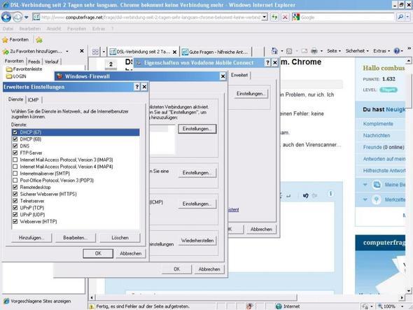 Dienste in Netzwerk  - (Chrome, Langsam, DSL-Verbindung)