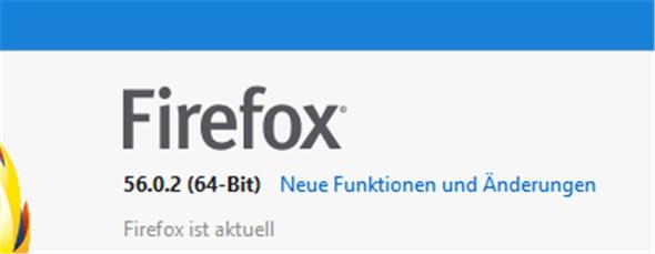 Firefox V. 56.0.2 - (Firefox, Fehlermeldung, Alter Browser)