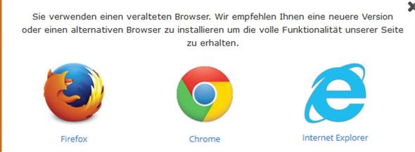 Fehleranzeige 2 - (Firefox, Fehlermeldung, Alter Browser)