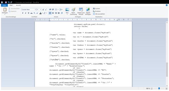 Nr 4 - (Informatik, Javascript, Formular)
