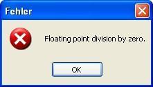 floating point division by zero - (nicht installierbar, Setup Datei, nicht entfernbar)