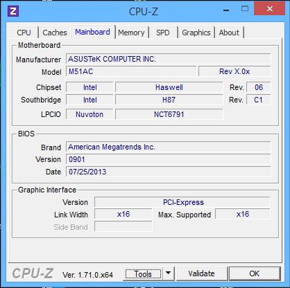Motherboard-Info laut CPU-Z - (ASUS M51AC Motherboard, Motherboard Handbuch M51AC, ASUS Handbuch M51AC)