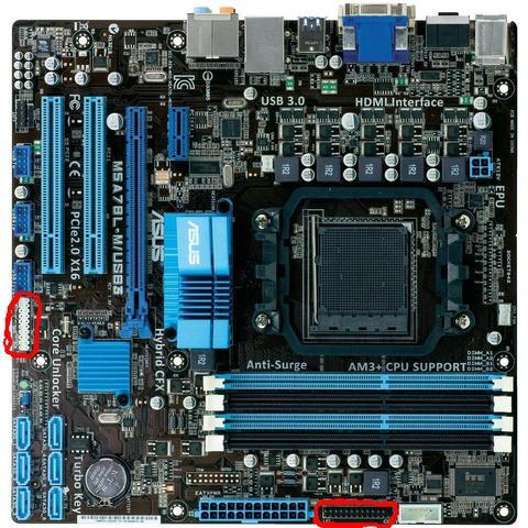 Hier das bild mit den eingekreisten Anschlüssen - (Mainboard, Asus, USB 3.0)