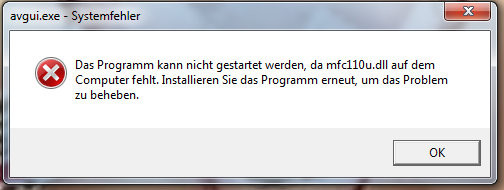 Der Systemfehler - (Windows 7, Registry, avgui.exe)