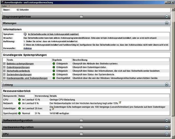 Information - kein Antivirusprodukt - (nicht erkannt, Aviraantivirusfree wird)