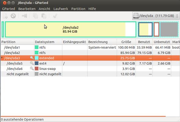 Eine Übersicht meiner Partitionierung - (Computer, Festplatte, Speicher)