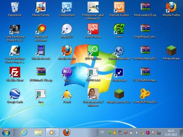 Desktop - (bildschirm, Taskleiste, Startmenü)