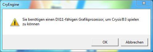 Fehlermeldung - (Hardware, software, Grafikkarte)
