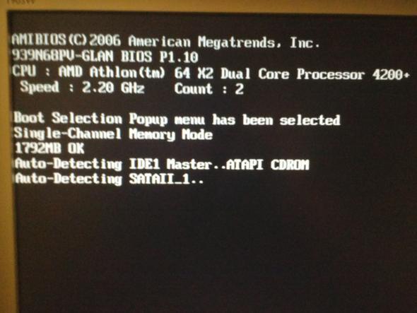 Meldung nach dem dücken der F11 Taste - (Computer, Windows 7, starten)