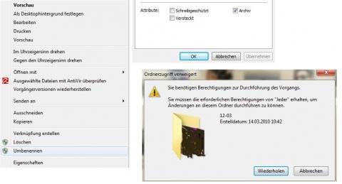 - (Windows 7, schreibschutz, Daten löschen)