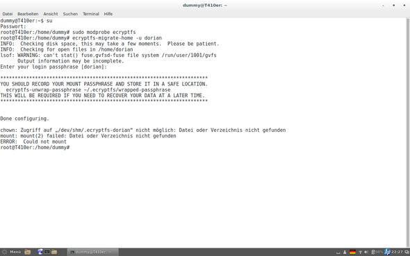 Screenshot - (Linux, Ubuntu, Verschlüsselung)