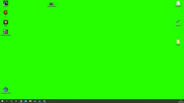 Desktop Hintergrundbild auf einmal weg und nur noch grünes Bild?