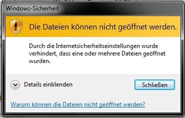 Fehlermeldung - (Internet, Windows, Quicksearch)